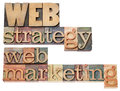 Web strategy and marketing Royalty Free Stock Images