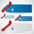 Web style promotional banners Royalty Free Stock Images
