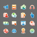 Web technology color icon set vector illustration Royalty Free Stock Photography