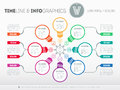 Web Template for circle diagram or presentation with icons and s