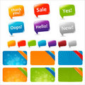 Web Text Boxes And Speech Bubbles Stock Photography
