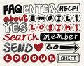 Web text element collection ,icon set Stock Photography