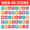 Web 40 Vector Icons Royalty Free Stock Photo