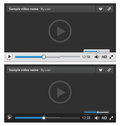 Web video player vector illustration Royalty Free Stock Image