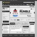 Web Website Element Design Template Grey Dark Royalty Free Stock Photo