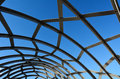 Webb bridge melbourne detail of metal lattice work on against blue sky in australia Royalty Free Stock Image