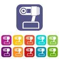 Webcam icons set Royalty Free Stock Photo