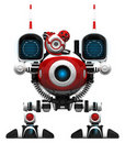 Webcam Robot Frontal View Royalty Free Stock Photo