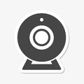 Webcam sign sticker