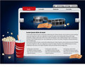 Webdesign template - Movie theme Royalty Free Stock Image