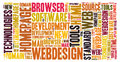 Webdesign word cloud homepage development Stock Photo