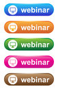 Webinar illustration of colorful buttons on white background Stock Photography