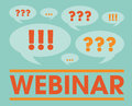 Webinar vector illustration in retro style Stock Image
