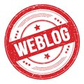 WEBLOG text on red round grungy stamp Royalty Free Stock Photo