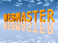 Webmaster computer generated d illustration with the word Royalty Free Stock Photo