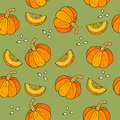 WebSeamless Halloween background with pumpkins.