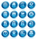 Website blue Icons Stock Photos