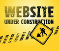 Website building constructing a black and yellow background Royalty Free Stock Images