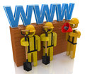 Website building or repair concept Royalty Free Stock Photo