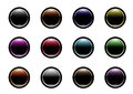 Website buttons colored for web shops Royalty Free Stock Images