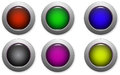 Website buttons colored for web shops Royalty Free Stock Photo