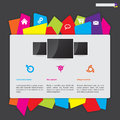 Website design with color paper label button bar abstract Stock Photography