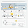 Website design navigation template elements with icons set Royalty Free Stock Photo