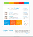 Website design template Royalty Free Stock Photo