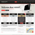 Website design template for hosting internet provider software service Royalty Free Stock Images