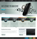 Website design template modern for Royalty Free Stock Photography