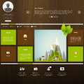 Website design template with wood in editable vector format Stock Photography