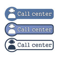 Website Element: Call Center Royalty Free Stock Images