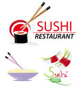 Website elements with sushi Royalty Free Stock Images