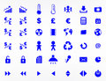 Website elements and symbols in vector format Royalty Free Stock Images