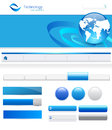 Website elements for templates with header navigation bars and various buttons Royalty Free Stock Photo