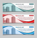 Website horizontal business banners vector template. Abstract banner design business concept design with healine for Royalty Free Stock Photo