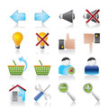 Website and internet icons Stock Photography