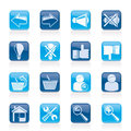 Website and internet icons Stock Image