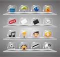 Website Internet Icons ,Transparent Glass Button Stock Image