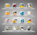 Website Internet Icons ,Transparent Glass Button Stock Photography