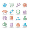 WebSite, Internet and navigation Icons Royalty Free Stock Image