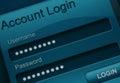 Website login screen macro capture Stock Photography