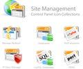 Webové stránky riadenie ikony