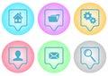 Website menu icons Royalty Free Stock Photo