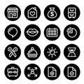 Website menu navigation round line icons, flat design - online shop, web page