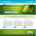 Website nature template design Stock Images