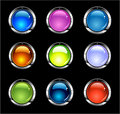 Website Shiny Buttons Royalty Free Stock Images