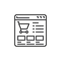 Website shop line icon