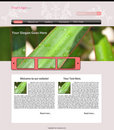 Website template Stock Image