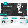 Website template Royalty Free Stock Photo